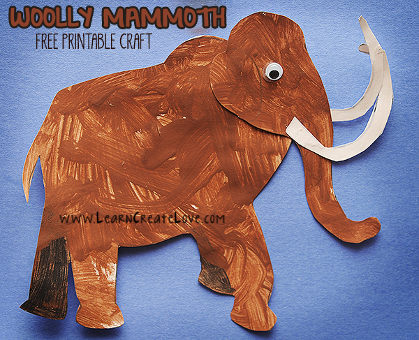Woolly Mammoth Printable Craft