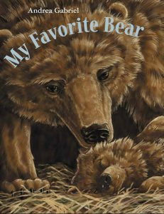 front cover of book my favorite bear showing mother bear and cub