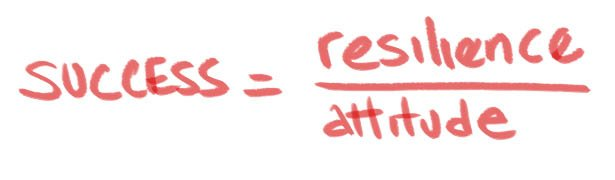 success equals resilience over attitude