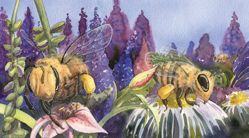 painting of bees