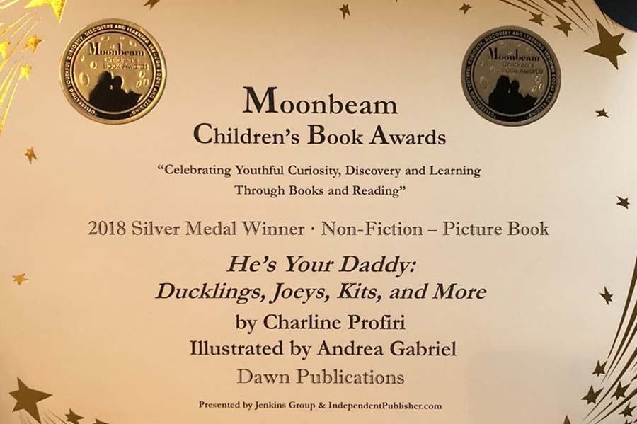 He's Your Daddy Wins a Silver Medal from the Moonbeam Children's Book Award